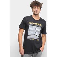 Camiseta Adidas Mh Photo Masculina - Masculino-Preto