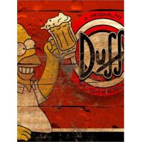 Placa Decorativa Em Mdf Cerveja Propaganda Duff Os Simpsons Madeira 20X30 Único