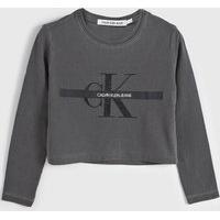 Blusa Calvin Klein Kids Infantil Logo Grafite