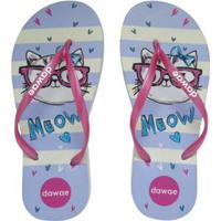 Chinelo Slim Teen Cat Feminino - Feminino-Branco