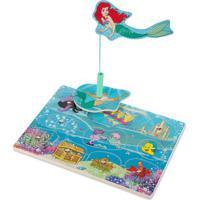 Peças De Encaixe De Madeira Com Imã - Disney - Princesas - Ariel - New Toys