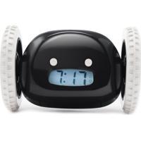 Despertador Relógio Fugitivo Preto