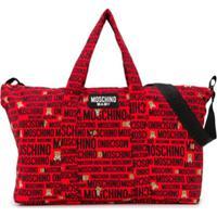 Moschino Kids Bolsa Maternidade Com Estampa De Logos - Vermelho