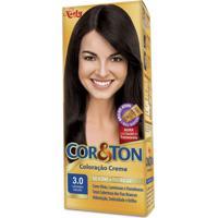 Coloração Creme Cor E Ton 3.0 Castanho Escuro Niely
