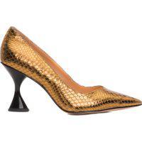 Scarpin Cobra Metal - Dourado