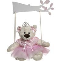 Balança Com Ursa Bailarina Potinho De Mel Rosa