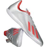 Chuteira Adidas X 19.4 In Futsal Juvenil Prata
