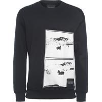 Blusa Masculina De Moletom Andy Warhol Landscape - Preto