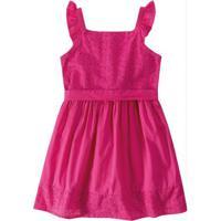 Vestido Rosa Em Tricoline Menina Malwee Kids