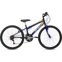 Bicicleta Mormaii Aro 24 Mtb 21V New Wave Azul