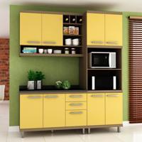 Cozinha Compacta New Vitoria 8 Pt 3 Gv Avelã Com Maracujá