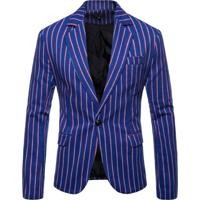 Blazer Masculino Listrado - Azul