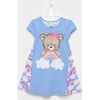 Pijama Infantil Kyly Camisola Ursinho Feminino - Feminino