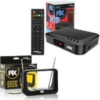 Kit Conversor Tv Digital Hdtv Com Antena Interna Digital
