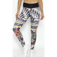 Legging Em Cirrãª- Preta & Amarelaphysical Fitness