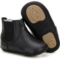 Botina Infantil Em Couro Capelli Boots Masculina - Masculino-Preto