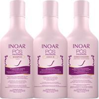 Kit Inoar Pos Progress Shampoo Condicionador Leave In 250Ml