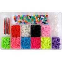 Caixa Organizadora Com 2000 Elásticos Ezbandz Colorido - Tricae