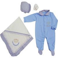 Kit Saída Maternidade I9 Baby Príncipe Nícolas Azul
