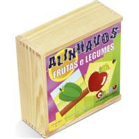 Alinhavos Frutas E Legumes Em Mdf Com 10 Peças - Carlu