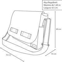 64c6cb8c1 Bolsa Carteiro Masculina De Lona Jack – Preta