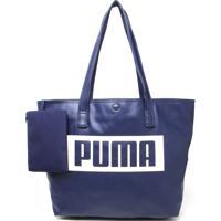Bolsa Sacola Puma Logo Azul