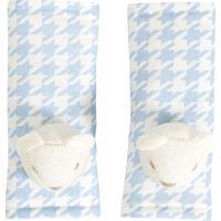 Par De Protetores De Cinto Windsor- Off White & Azul Clabiramar