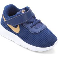 Tênis Infantil Nike Tanjun - Masculino-Azul+Dourado