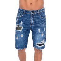 Bermuda Jeans Com Rasgos 16 Emporio Alex