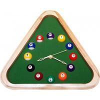 Relógio De Parede Triangular Bilhar - Unissex