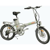 Bicicleta Elétrica Biobike, Quadro Em Alumínio, Modelo Js 12-Prata