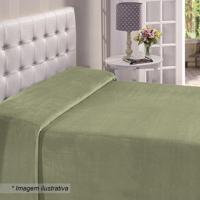 Manta Flanel Queen Size- Verde- 180X220Cm- Buettbuettner