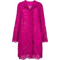 Dolce & Gabbana Casaco De Renda - Rosa