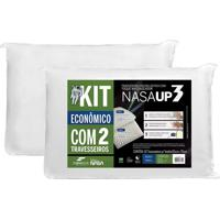 Kit Promocional 2 Travesseiros Nasa Up 3 50X70 Travesseiro Viscoelá.