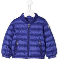 Moncler Kids Quilted Down Jacket - Azul