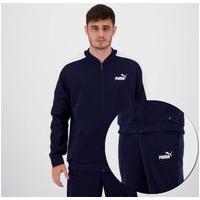 Agasalho Puma Baseball Tricot Suit Marinho E Branco