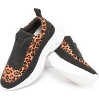Tenis Preto Feminino Casual Sapatenis Original Linder Shoes