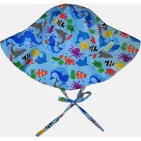 Chapéu Com Proteção Solar Fpu 50+ Ecoeplay Fundo Do Mar Azul