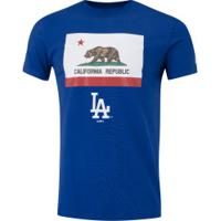 Camiseta New Era Los Angeles Dodgers Essentials - Masculina - Azul