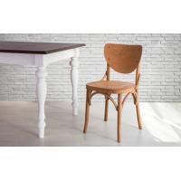 Cadeira De Madeira Torneada Com Encosto E Assento Anatômico Jatobá Eléonore - 44X49,5X82,5 Cm