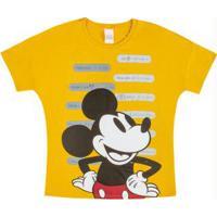 Blusa Com Estampa Frente E Costas Amarelo