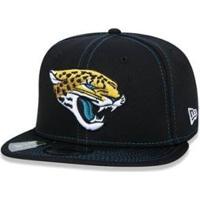 Boné New Era 9Fifty Nfl On-Field Coleção Sideline Jacksonville Jaguars - Masculino-Preto