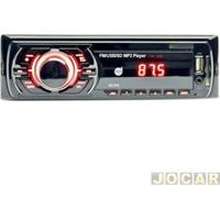 Auto Rádio Mp3 Player - Dazz - Usb Frontal/Entrada Auxiliar/Sd - Cada (Unidade) - Dz-52240