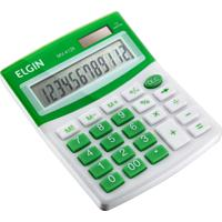 Calculadora De Mesa Elgin Mv4126 12 Dígitos Verde