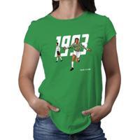 Camiseta Novomanto 1993 O Retorno De Um Gigante Feminina - Feminino-Verde