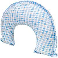 Apoio Para Amamentação London- Branco & Azul- 63X53Xbiramar