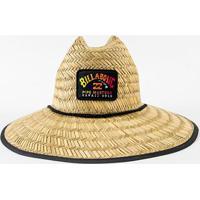 Chapéu De Palha Billabong Tides Pipe Masculino - Masculino-Bege