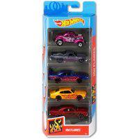 Pack 5 Carrinhos Hot Wheels Hw Flames - Mattel