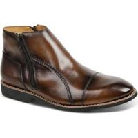 Bota Masculina Linha Premium Dress Boot Sandro & Co - Masculino-Cafe