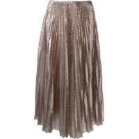 Fabiana Filippi Sequin Pleated Skirt - Dourado